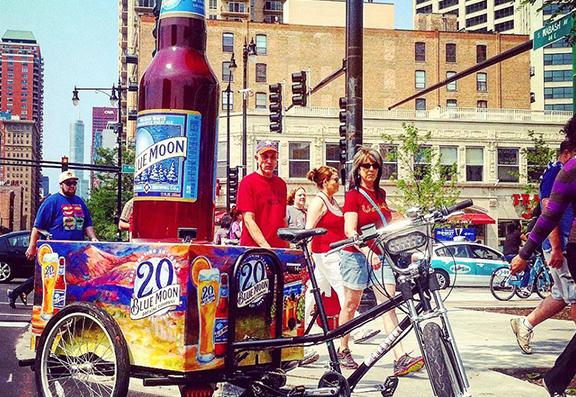 Blue moon bottle bike